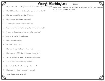 George Washington Differentiated Reading Passages & Comprehension Questions