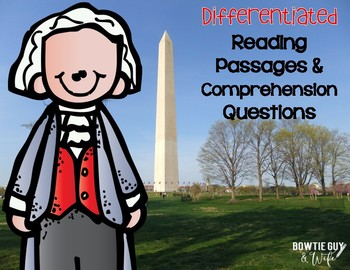 George Washington {Differentiated Reading Passages & Compr