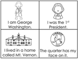 George Washington Early Emergent Reader Reading Activity Cards.