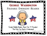 George Washington Emergent Foldable Reader ~Color & B&W~ PLUS Printable!