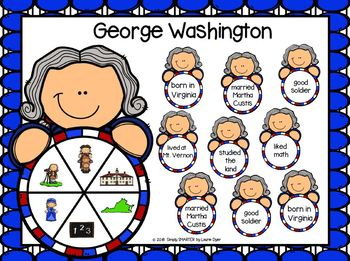 George Washington Emergent Reader Book AND Interactive Activities