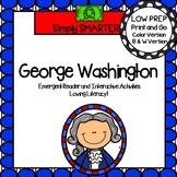 George Washington Emergent Reader Book AND Interactive Activities