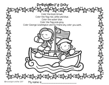 George Washington Emergent Reader with Crown and Activities for President's Day