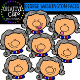 George Washington Faces {Creative Clips Clipart}
