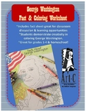 George Washington Fact & Coloring Worksheet
