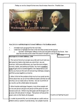 George Washington Farewell Address and Thesis Creation
