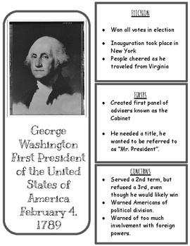 George Washington, First Presidency