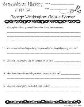 George Washington: Genius Farmer - Sensational History Snip-Its Series