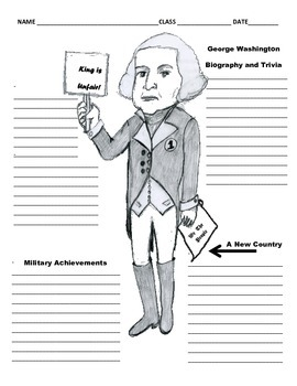 1st President - George Washington Graphic Organizer