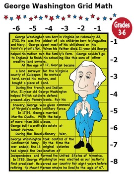 George Washington Activity (Mystery Puzzle, Coordinate Graphing Picture)