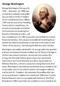 George Washington Handout