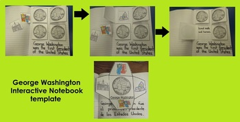 George Washington Interactive Journal Activities (Spanish and English)