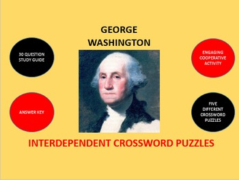 George Washington: Interdependent Crossword Puzzles Activity