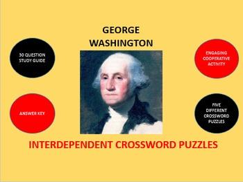 George Washington: Interdependent Crossword Puzzles Activity