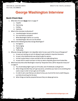 George Washington Interview Podcast Activity