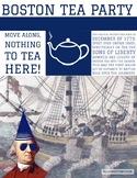 Boston Tea Party Samuel Adams Sons of Liberty Social Studies Classroom Poster