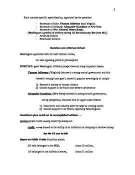 George Washington/ John Adams Lecture Notes