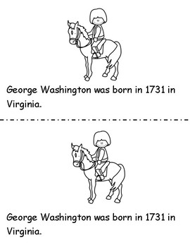 George Washington Mini Book