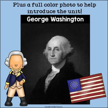 George Washington Mini Book for Early Readers: Presidents' Day