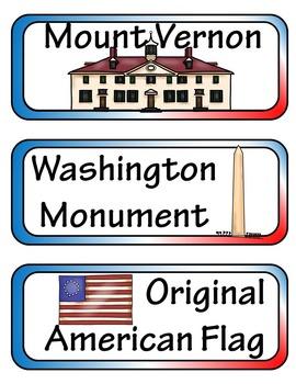 George Washington Mini Research Fold-Ems, Word Wall, & Writing Templates