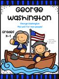 George Washington Mini-Unit, Thumb tabs book, activities, and worksheets! K-1