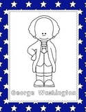 George Washington (NO PREP) pages for PreK-1st Grade