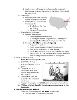 George Washington New Nation Outline with Questions