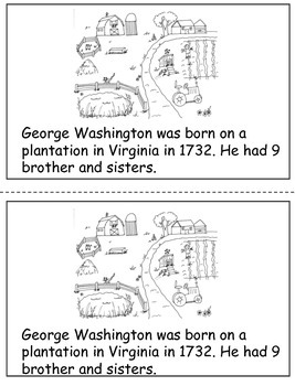 George Washington Nonfiction Book with Close Activities