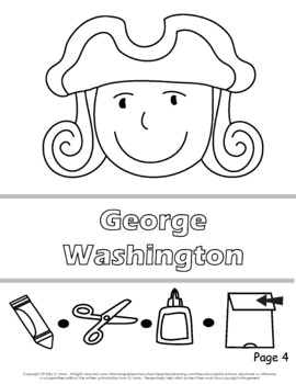 George Washington Paper Bag Puppet, Poster, and Writing Page.