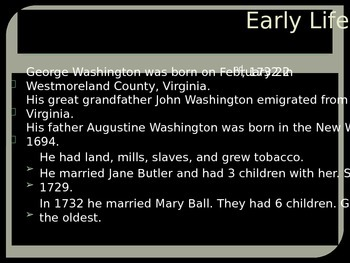 George Washington PowerPoint