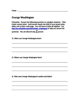 George Washington PowerPoint Guide