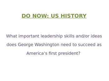 George Washington PowerPoint - NYS US History Regents Aligned