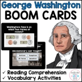 George Washington Presidents Day BOOM CARDS™ for Distance