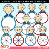 George Washington Presidents' Day Spinners Clip Art