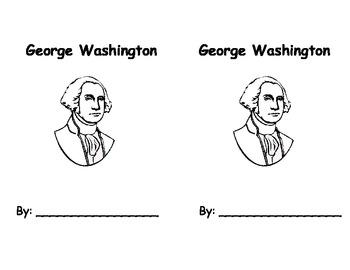 George Washington Printable Book