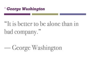 George Washington QUOTES- Classroom Displays