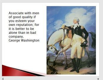 George Washington Quotes and Brief Bio Powerpoint Presentation President's Day