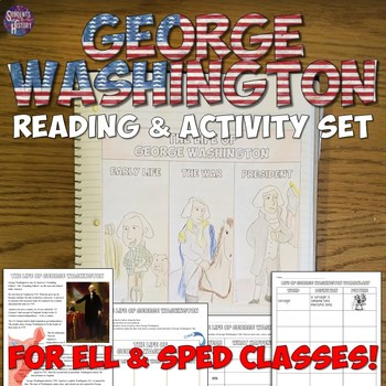 George Washington Reading & Activity Set for ESOL & SPED