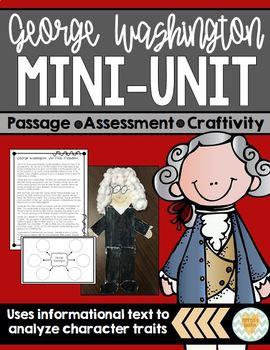 George Washington - Reading Passage & Craftivity