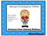George Washington Reading Street Unit 3 Week 3 Common Core Literacy Stations
