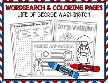 President's Day - George Washington Print and Go Packet