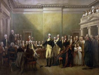 """George Washington - """"General George Washington Resigning His Commission"""""""