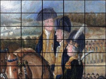 "George Washington - Recreating ""The Whiskey Rebellion"" Painting"