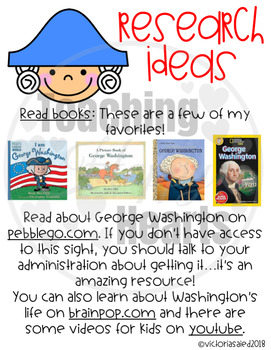 George Washington Research Craftivity
