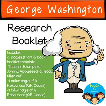 George Washington-Historical Figure Research Booklet