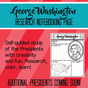 George Washington Research Notebooking Page