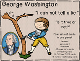George Washington ~ Rhyming, CVC/CVCE Words, Equal Parts, Number Relationships