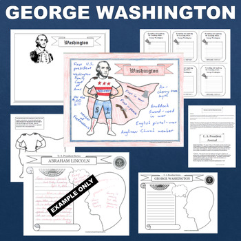 George Washington SUPERHERO Presidential Activity
