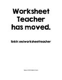 Worksheet Teacher TOS