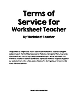 Worksheet Teacher TOS